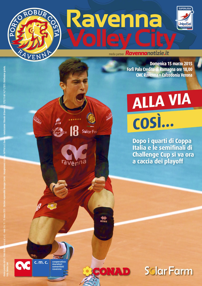 Copertina di Ravenna volley City n11