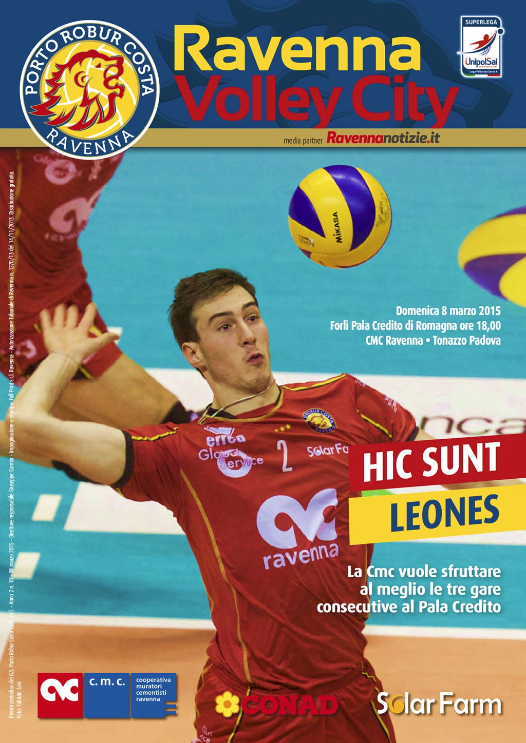 Copertina del n.10 di Ravenna Volley City